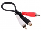 Кабель Telecom 1RCA (F) - 2RCA (M) <TAV4355-0.2M>