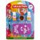 Аквагрим & Тату MultiArt: блестки, кисточка, 4 трафарета для тату, 2 краски на блистере в кор.4*24шт