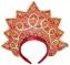 Кокошник Новогодняя сказка Корона, красный 30.5 см от 3 лет 972862