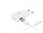 Сетевое зарядное устройство Samsung EP-TA20EWECGRU 2А + Type-C, белый