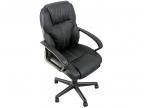 Кресло College HLC-0601, черный экокожа, 120 кг, подлокот. черный пластик/ кожа, крестовина черный пластик