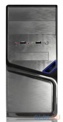 Корпус microATX Super Power Winard 5819 Без БП чёрный серебристый корпус atx super power winard 3065 без бп чёрный