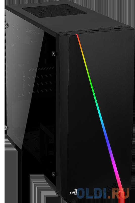 Корпус Aerocool [PGS-V] Cylon Mini Tempered Glass , mATX, без БП, RGB подсветка, закаленное стекло, 1x USB 3.0 + 1x USB 2.0 4718009152359