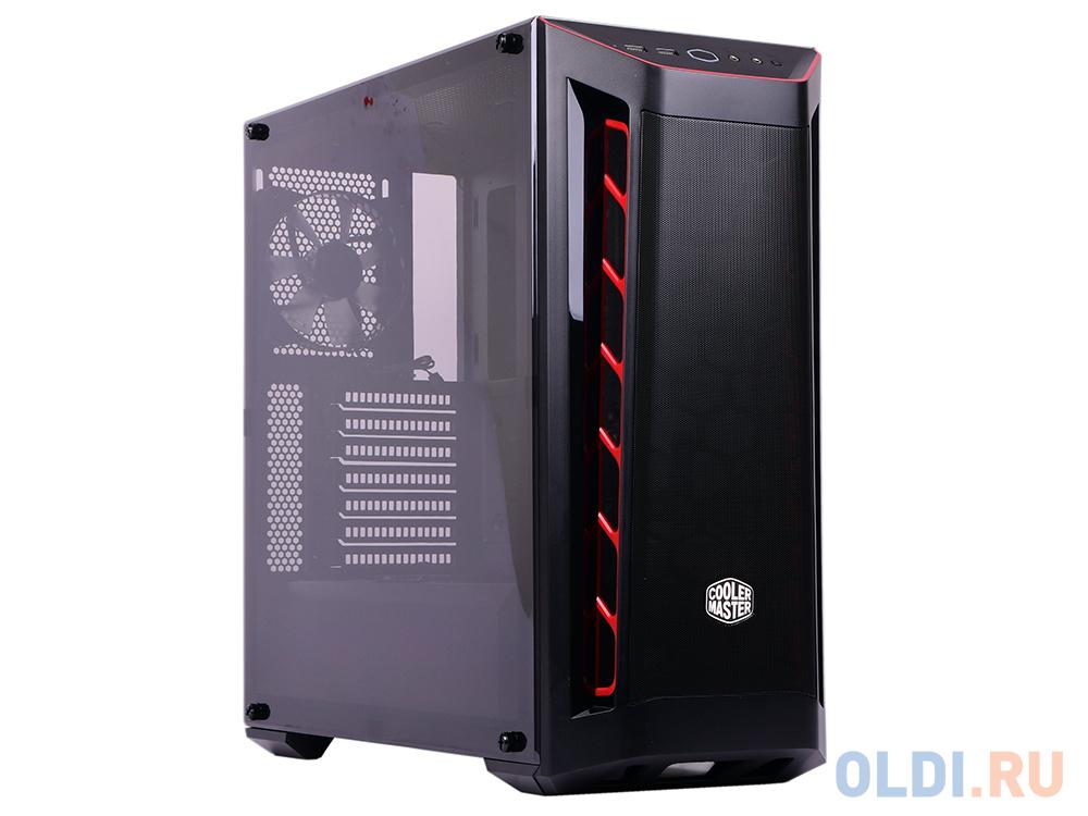 Фото - Cooler Master MasterBox MB511, 2xUSB3.0, 1x120 Fan, w/o PSU, Black, Red Trim, Mesh Front Panel, ATX блок питания dell power supply 1 psu 350w hot swap kit for poweredge r330 r320