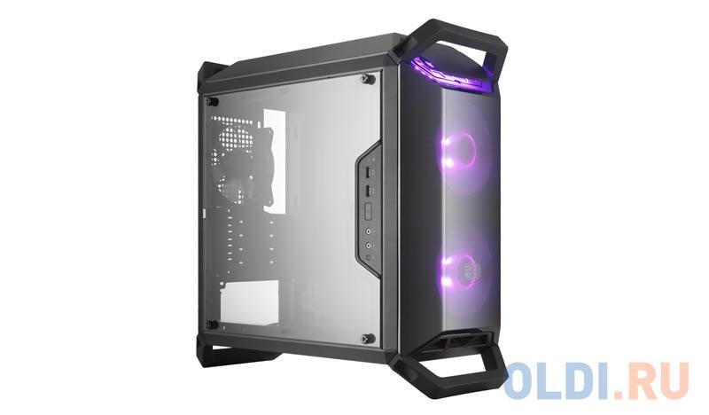 Cooler Master MasterBox Q300P, USB3.0x2, 2x120 RGB Fan, 1x120Fan, Black, ATX, w/o PSU cooler master masterbox mb511 2xusb3 0 1x120 fan w o psu black red trim mesh front panel atx
