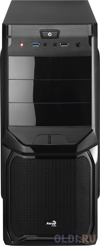 Корпус ATX Aerocool V3X Black Edition Без БП чёрный EN57417 корпус aerocool cs 105 без бп 4718009152533
