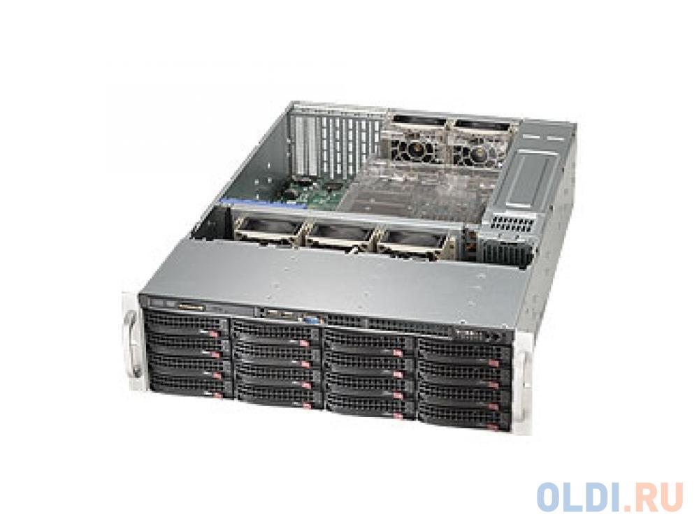Серверный корпус 3U Supermicro CSE-836BE1C-R1K03B 1000 Вт чёрный серебристый