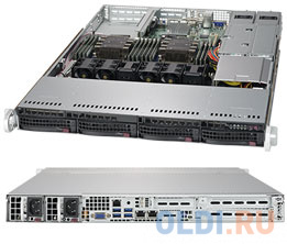 Фото - Серверный корпус 1U Supermicro CSE-815TQC-R706WB2 750 Вт чёрный корпус supermicro cse 116ac2 r706wb 1u