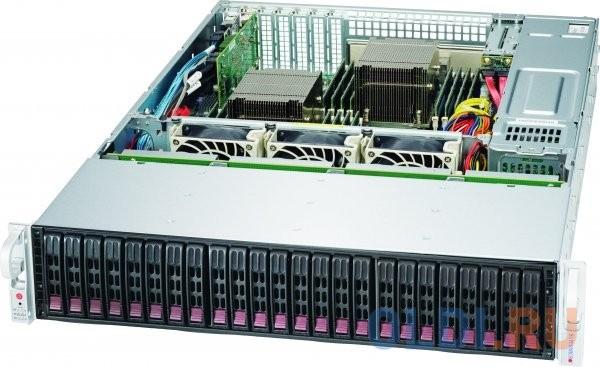 Фото - Корпус компьютерный Supermicro Chassis Rack 2U/24x2.5 hot-swap SAS/SATA/1200W блок питания dell power supply 1 psu 350w hot swap kit for poweredge r330 r320