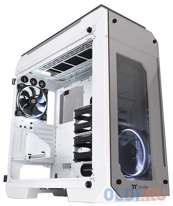 Корпус Thermaltake View 71 TG Snow белый без БП ATX 2x140mm 2xUSB2.0 2xUSB3.0 audio bott PSU корпус thermaltake h100 tg черный без бп atx 1x120mm 2xusb3 0 audio bott psu