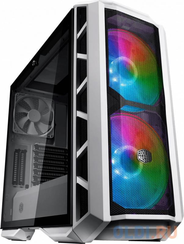 Фото - Корпус E-ATX Cooler Master MasterCase H500P Mesh White Без БП белый MCM-H500P-WGNN-S01 корпус e atx cooler master masterbox mb511 rgb mesh без бп серебристый