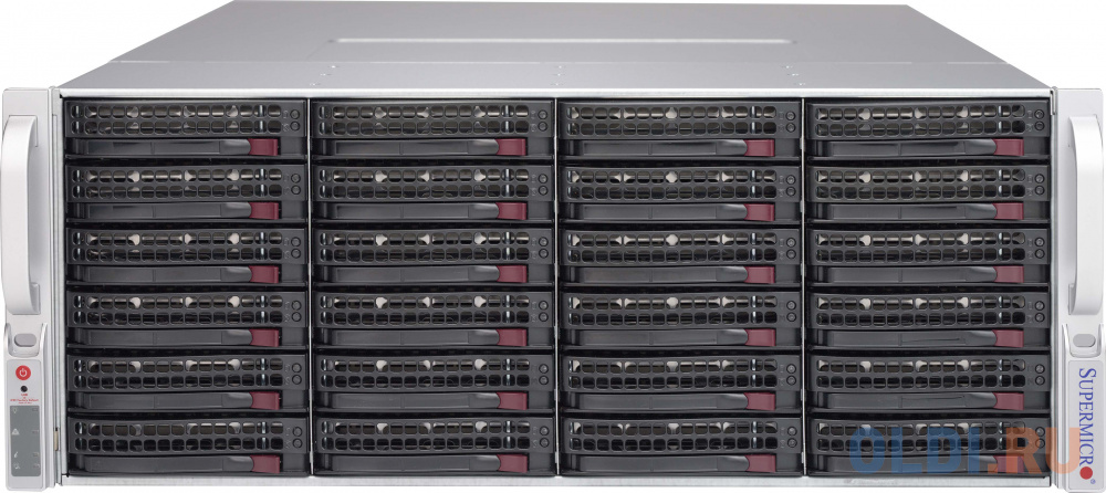 Серверный корпус 4U Supermicro CSE-847E2C-R1K28JBOD 2 х 1280 Вт чёрный