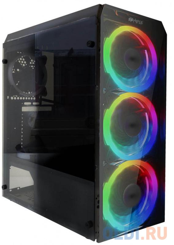 Корпус ATX HIPER HG-C106RGB Без БП чёрный корпус atx crown cmc gs10b без бп чёрный