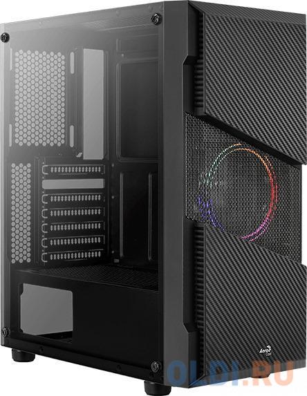 Фото - Корпус Aerocool Ore Saturn FRGB-G-BK-v1 черный без БП ATX 2x120mm 2xUSB2.0 1xUSB3.0 audio bott PSU корпус atx aerocool cylon bg без бп чёрный