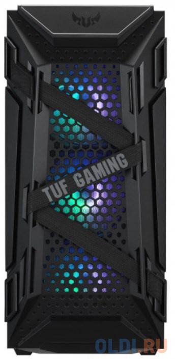 Компьютерный корпус Asus TUF Gaming GT301 (ATX, RGB подсветка, вентиляторы 120мм, стеклянная боковая панель)