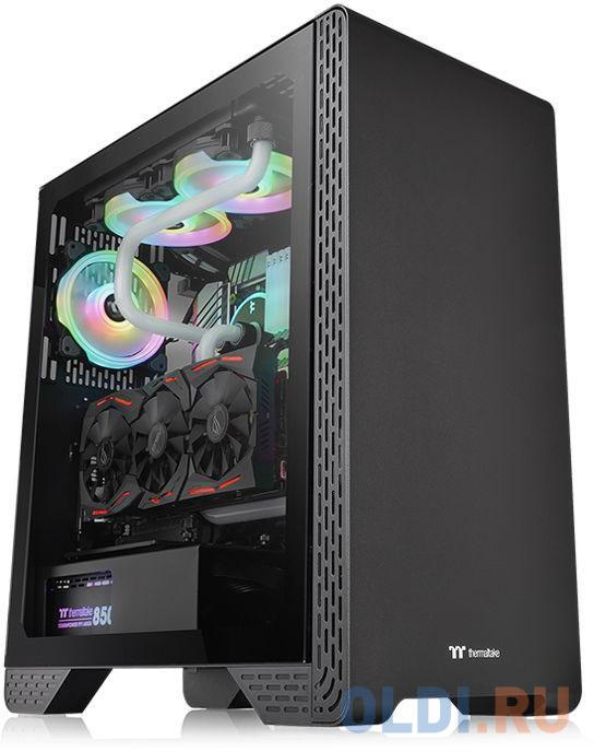 Корпус Thermaltake S300 TG черный без БП ATX 6x120mm 6x140mm 3x200mm 2xUSB2.0 1xUSB3.0 audio bott PSU корпус thermaltake h100 tg черный без бп atx 1x120mm 2xusb3 0 audio bott psu