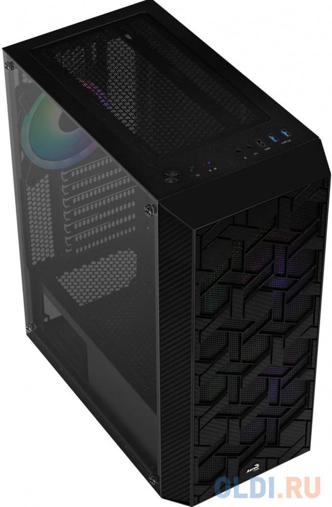 Корпус Aerocool Hive-G-BK-v2 черный без БП ATX 4x120mm 2x140mm 1xUSB2.0 2xUSB3.0 audio bott PSU