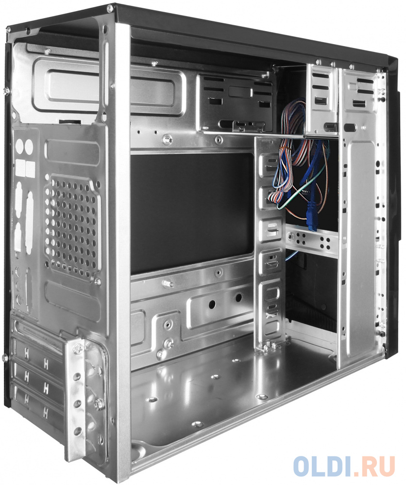 Exegate EX284037RUS Корпус Minitower BA-204U Black, mATX, , 2*USB+2*USB3.0, Audio корпус inwin emr001 black silver matx 450w usb audio
