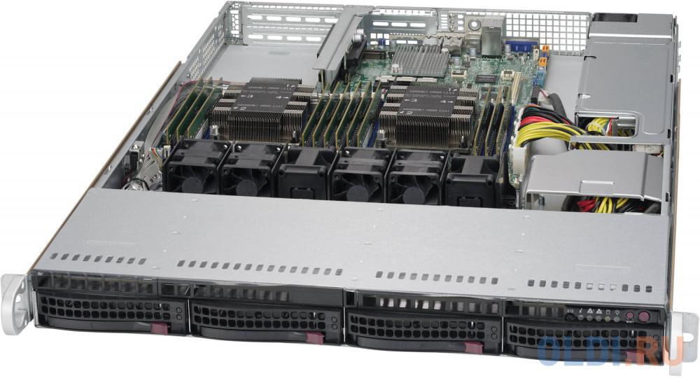 Фото - Серверный корпус 1U Supermicro CSE-815TQC-605WB 600 Вт чёрный корпус supermicro cse 116ac2 r706wb 1u