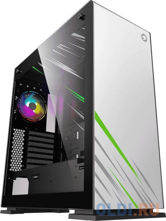 Картинка для Корпус ATX GameMax Vega pro White Без БП чёрный белый