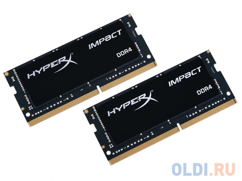 Оперативная память для ноутбуков Kingston HX424S14IBK2/32 SO-DIMM 32GB DDR4 2400MHz оперативная память для ноутбуков kingston hyperx impact hx432s20ib2 8 so dimm 8gb ddr4 3200mhz so dimm 260 pin pc 25600 cl20