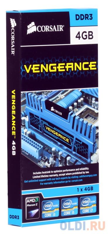 Оперативная память DIMM DDR3 Corsair 4Gb (pc-12800) 1600MHz (CMZ4GX3M1A1600C9)