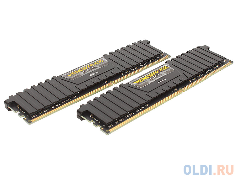 Фото - Оперативная память 16Gb (2x8Gb) PC4-19200 2400MHz DDR4 DIMM CL14 Corsair CMK16GX4M2A2400C14 оперативная память 16gb pc4 19200 2400mhz ddr4 dimm lenovo 46w0829