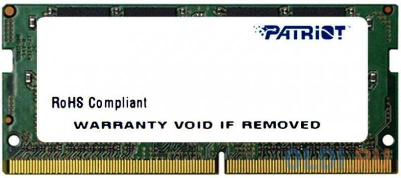 Оперативная память для ноутбуков Patriot Memory PSD48G213381S SO-DIMM 8GB DDR4 2133MHz фото