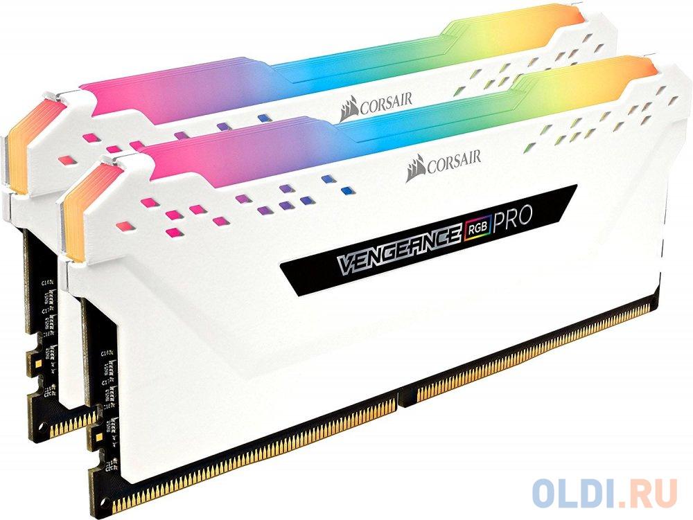 Оперативная память 16Gb (2x8Gb) PC4-21300 2666MHz DDR4 DIMM CL16 Corsair CMW16GX4M2A2666C16W недорого