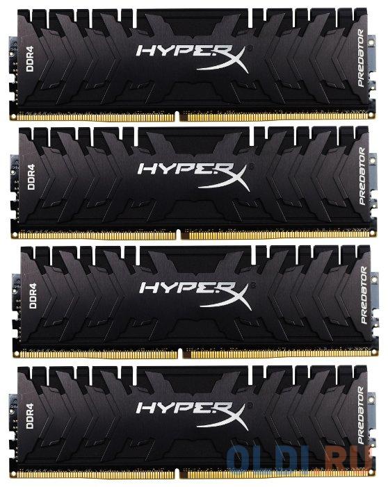 Фото - Оперативная память Kingston HyperX Predator RGB HX432C16PB3AK4/32 DIMM 32Gb DDR4 3200MHz модуль памяти dimm 32gb ddr4 pc25600 3200mhz kingston xmp hyperx predator series hx432c16pb3 32