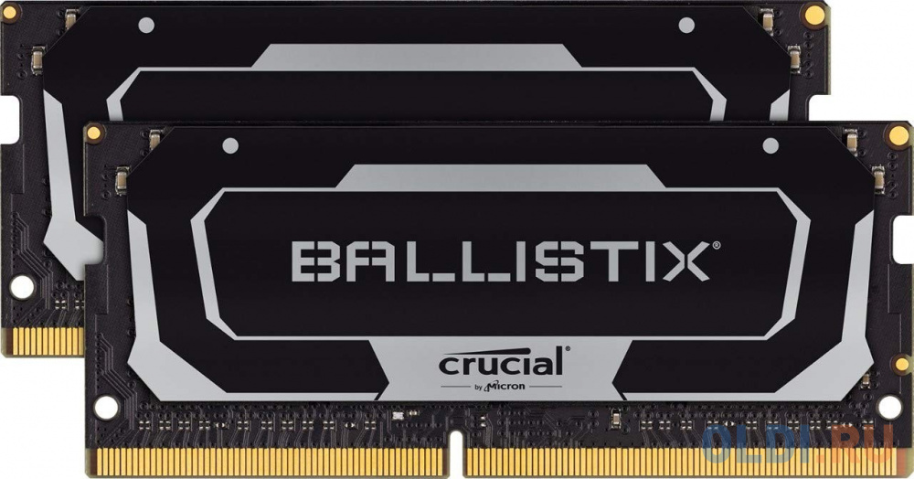 Оперативная память для ноутбука 16Gb (2x8Gb) PC4-25600 3200MHz DDR4 SO-DIMM CL18 Crucial BL2K8G32C16S4B оперативная память для ноутбуков kingston hyperx impact hx432s20ib2 8 so dimm 8gb ddr4 3200mhz so dimm 260 pin pc 25600 cl20