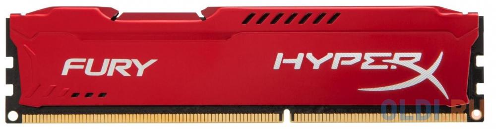 Фото - Оперативная память Kingston HX313C9FR/8 HyperX FURY Red Series DIMM 8Gb DDR3 1333MHz оперативная память kingston hx313c9fw 4 hyperx fury white series dimm 4gb ddr3 1333mhz