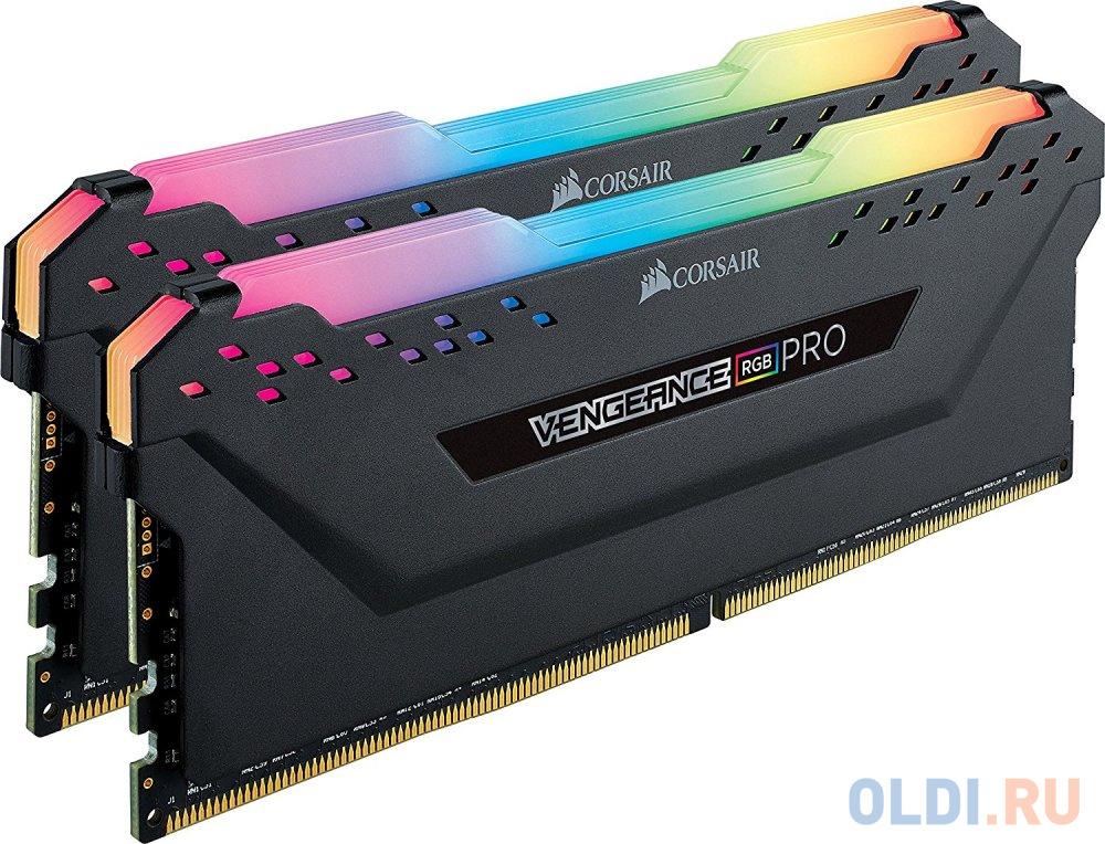 Оперативная память для компьютера Corsair CMW16GX4M2C3200C16 DIMM 16Gb DDR4 3200MHz память оперативная ddr4 corsair 16gb 3200mhz cm4x16gc3200c16w2e