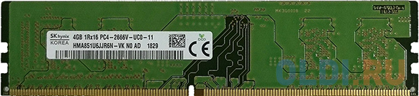 Оперативная память 4Gb (1x4Gb) PC4-21300 2666MHz DDR4 DIMM CL19 Hynix HMA851U6JJR6N-VKN0
