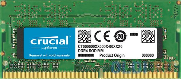 Оперативная память для ноутбука 4Gb (1x4Gb) PC4-25600 3200MHz DDR4 SO-DIMM CL22 Crucial CT4G4SFS632A оперативная память для ноутбуков kingston hyperx impact hx432s20ib2 8 so dimm 8gb ddr4 3200mhz so dimm 260 pin pc 25600 cl20