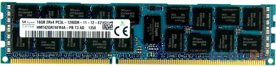 Оперативная память 16Gb (1x16Gb) PC3-12800 1600MHz DDR3 DIMM ECC Registered CL11 Hynix HMT42GR7AFR4A-PB.
