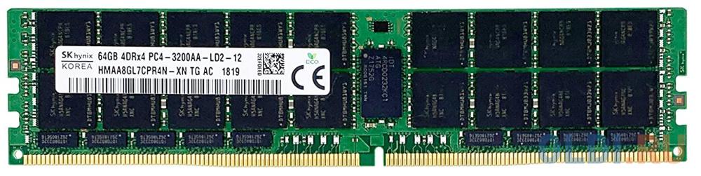 Модуль памяти DDR4 DIMM 64Гб 2933MHz ECC Load Reduced 4Rx4 CL21 Hynix Original OEM.