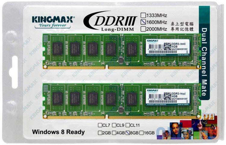 Оперативная память KingMax KM-LD3-1600-8GD DIMM 8Gb DDR3 1600MHz
