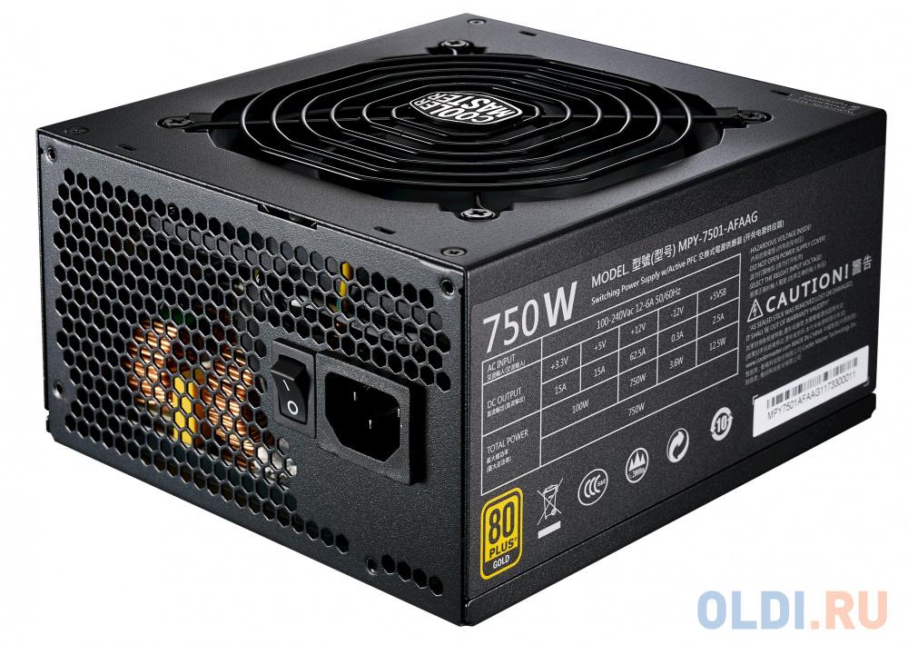Фото - Блок питания ATX 750 Вт Cooler Master MWE Gold 750 Full Modular MPY-7501-AFAAG-EU блок питания atx 1000 вт super flower leadex ii gold