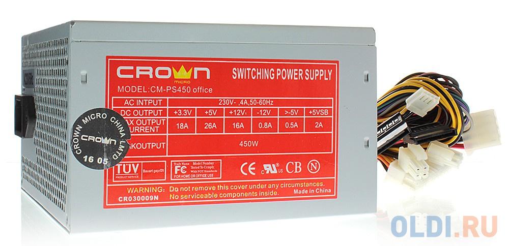 Фото - Блок питания ATX 450 Вт Crown CM-PS450 OFFICE favourite бра crown