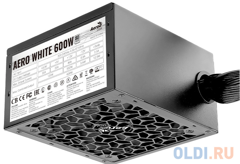 Блок питания ATX 600 Вт Aerocool AERO WHITE 600
