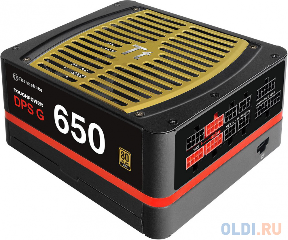 Блок питания Thermaltake ATX 650W Toughpower Grand DPS G 80+ gold (24+4+4pin) APFC 140mm fan color LED 8xSATA Cab Manag RTL thermaltake toughpower grand dps g