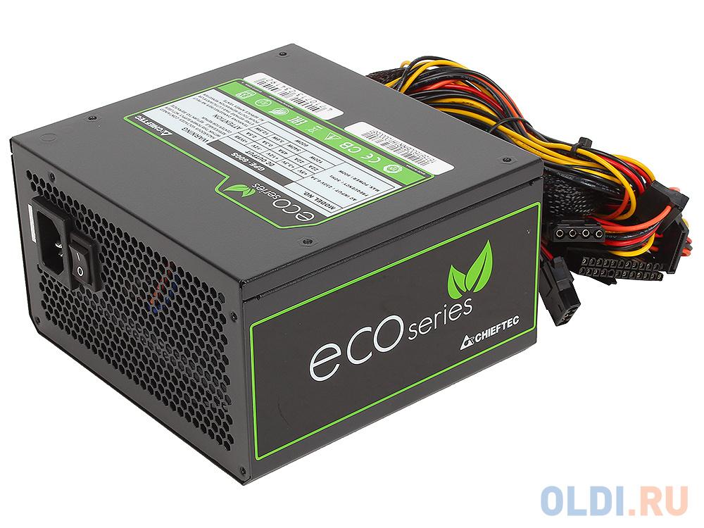 Блок питания Chieftec 600W Retail GPE-600S [Eco] ATX v.2.3, КПД > 85%, A.PFC, 2x PCI-E (6+2-Pin), 6x SATA, 2x MOLEX, 8 Pin EPS (4+4), Fan 12cm