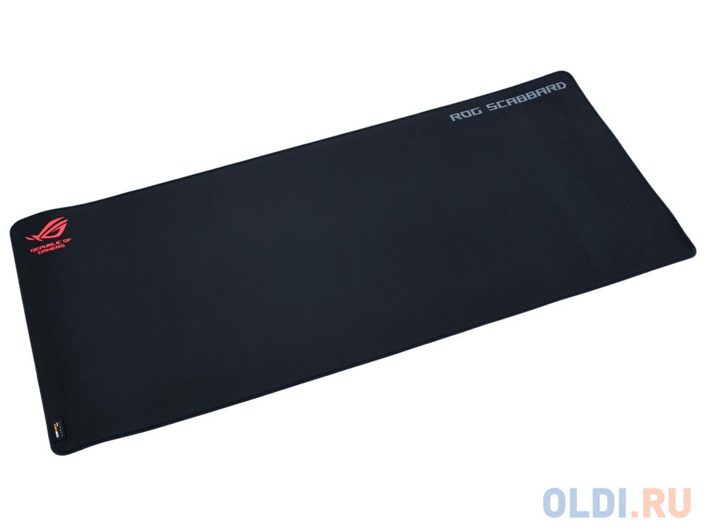 Игровой коврик для мыши ASUS ROG Scabbard (900 x 400 x 2 mm, каучук, нетканый материал, cиликон, 90MP00S0-B0UA00) коврик для мыши asus rog scabbard черно красный