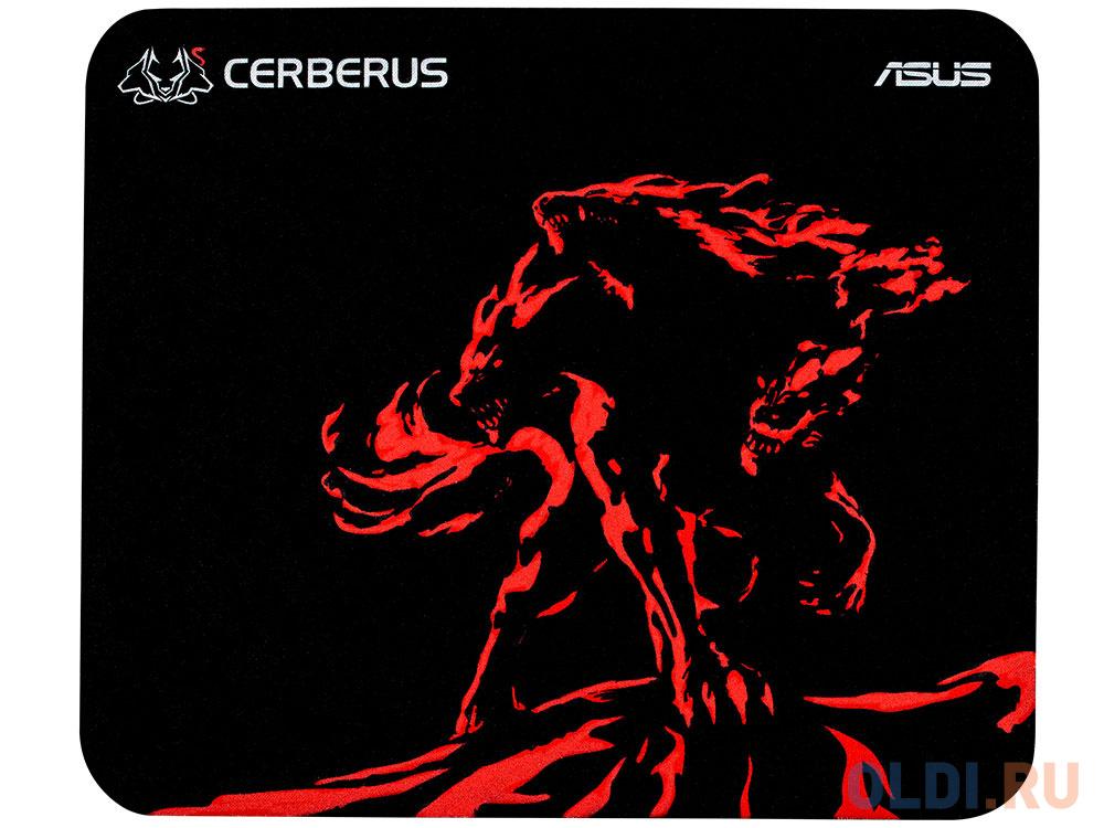 Игровой коврик для мыши ASUS Cerberus Mini чёрный/красный коврик для мыши asus cerberus black 90yh00t1 bdua00