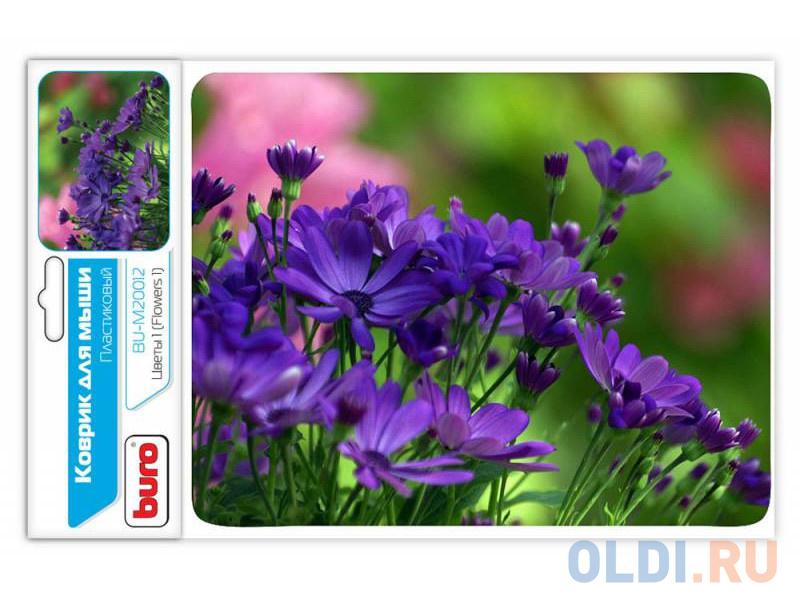 Коврик для мыши Buro BU-M20012 цветы коврик buro для мыши bu gel blue 817305