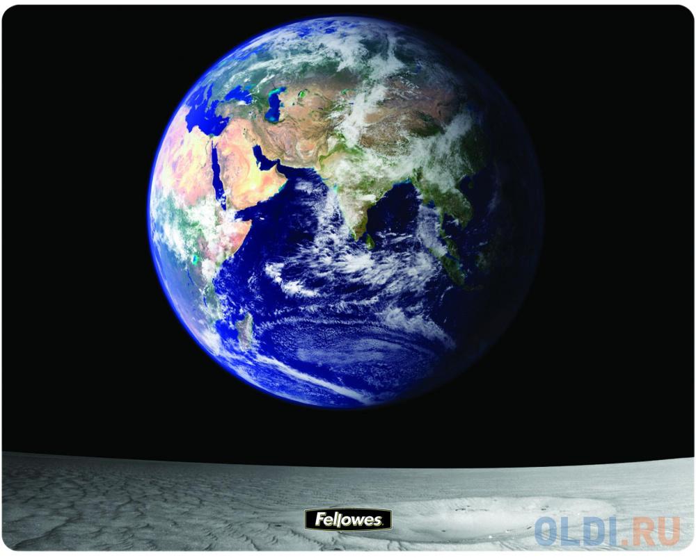 Коврик для опт/мыши Земля и Луна, Fellowes®, нескользящее основание, трехслойная технология Brite (в, шт