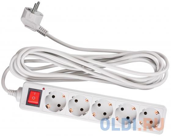Сетевой фильтр BURO 500SL-5-G 5 розеток 5 м