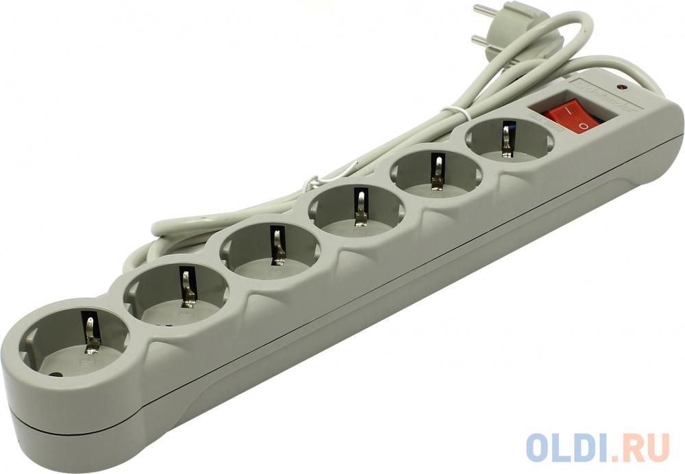 Сетевой фильтр Defender DFS 601 6 розеток, 1.8 м 99406