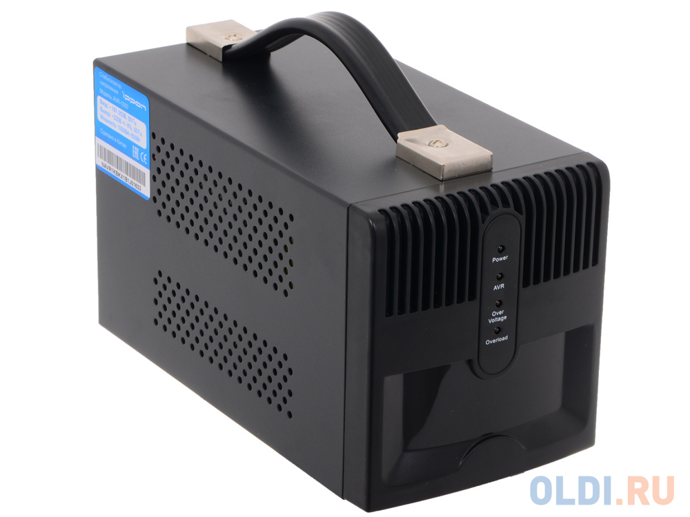 Стабилизатор напряжения Ippon AVR-1000 (4 EURO) стабилизатор напряжения ippon 551689 avr 2000